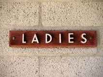 1950s Ladies sign Stock Images