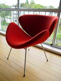 1950s: modernist red chair - side Stock Photo