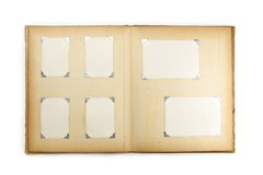 1950s photo album, isolated on white. Stock Photography