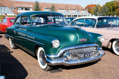 1951 Buick Special 48 D. ROSMALEN, THE NETHERLANDS - OCTOBER 15: A 1951 Buick Special 48 D is shown at the Rock Around the Jukebox event on October 15, 2011 in stock photos