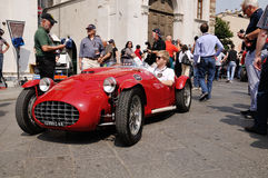 1951 construiu o esporte vermelho de Ermini Siluro em Miglia 1000 Foto de Stock Royalty Free
