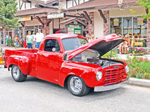 1951 Studebaker Truck. This is a nicely restored and customized 1951 Studebaker truck with a high performance V-8 engine and chrome wheels Royalty Free Stock Images