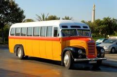 1952公共汽车马尔他老 免版税库存图片