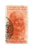 1952标有日期的意大利邮票 库存照片