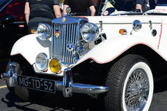1952 MG TD. Seen at the Maspeth 2012 Annual Antique Car Show Royalty Free Stock Photo