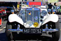 1952 MG TD. Seen at the Maspeth 2012 Annual Antique Car Show Royalty Free Stock Photos