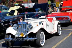 1952 MG TD. Seen at the Maspeth 2012 Annual Antique Car Show Royalty Free Stock Images