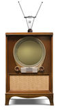 1952 television set. A stock photo of a 1952 console television set Stock Images
