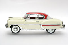 1953 Bel Air metal scale toy car. Picture of a 1953 Bel Air. Detailed scale model from my brothers toy collection Stock Images