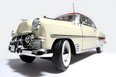 1953 Bel Air metal scale toy car fisheye Stock Photos