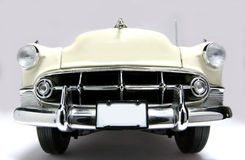1953 Bel Air metal scale toy car fisheye frontview. Picture of a 1953 Bel Air. Taken with a fisheye lens as a picture. Very hard to flash as the frontlens is Royalty Free Stock Photography