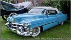 1953 Cadillac Eldorado Special Sport Convertible Stock Photography