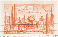 1953 Stamp Gadsen Purchase. This is a Vintage 1953 Canceled US Postage Stamp Gadsen Purchase Royalty Free Stock Image