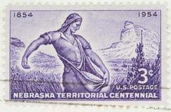 1954年领土的内布拉斯加 库存图片