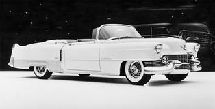1954 Cadillac Eldorado. (All persons depicted are no longer living and no estate exists. Supplier grants that there will be no model release issues stock images