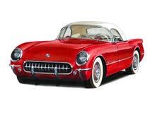 1954 Chevrolet Corvette. Illustration of a 1954 Chevrolet Corvette vector illustration