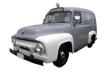 1954 Ford V8 F100 Ambulance. Isolated with clipping path Royalty Free Stock Photo