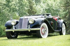 1954 MG. Picture of the 1954 MG Model TF Stock Images