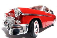 1955年汽车薛佛列汽车fisheye金属缩放比例&#29609 库存照片