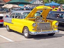 1955年薛佛列汽车Bel Air 免版税库存图片
