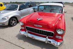 1955年belair薛佛列汽车小轿车体育运动 库存照片