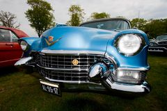 1955 Cadillac Eldorado classic car. ROSMALEN, THE NETHERLANDS - MAY 16: 1955 Cadillac Eldorado Special Convertible classic car on the Rock Around the Jukebox royalty free stock photography