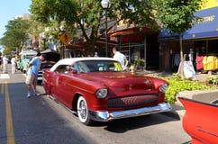 1955 rojo Chevrolet Fotografía de archivo