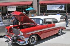 1956年薛佛列汽车小轿车 免版税库存图片