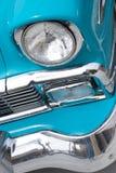 1956经典敞篷车车灯 免版税库存图片