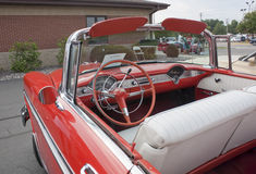 1956 Chevy Bel Air Interior View Royalty Free Stock Photography