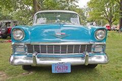 1956 de voorzijde van het Bel Air Chevy Stock Fotografie