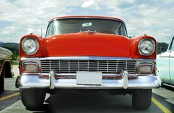1956年薛佛列汽车chevy游牧人 库存照片