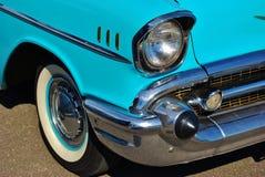 1957年薛佛列汽车Bel Air敞篷车详细资料 免版税库存照片