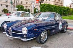 1957年阿尔法罗密欧・ Giulia ・ Sprint Speciale 免版税库存照片