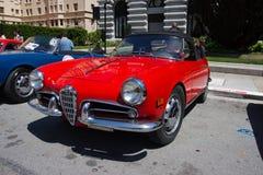 1957年阿尔法giulietta罗密欧蜘蛛veloce 免版税库存照片
