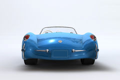 1957 3d Chevrolet Corvette framför vektor illustrationer
