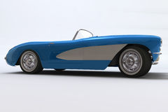 1957 3d Chevrolet Corvette framför stock illustrationer