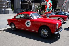 1957 Alfa Romeo Giulietta Sprint Veloce Royalty Free Stock Photography