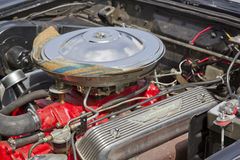 1957 Ford Thunderbird Engine Royalty Free Stock Image