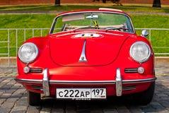 1958年汽车敞篷车d堡侍捷红色减速火箭 免版税库存图片