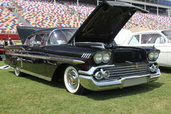 1958年汽车薛佛列汽车经典之作飞羚 免版税库存图片