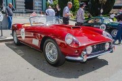1958年Ferrari 250 GT蜘蛛 库存图片