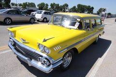 1958航空贝耳Chevrolet Impala 库存照片