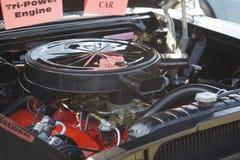 1958黑色Chevy飞羚引擎 库存图片