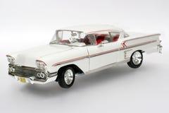 1958年汽车Chevrolet Impala金属缩放比例玩具 库存照片