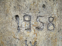 1958. Wall detail stock images