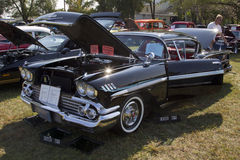 1958 Black Chevy Impala Royalty Free Stock Images