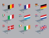 1958 eu 1973 spinaczy bandery fotografia royalty free