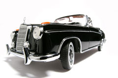 1958 Mercedes Benz 220 SE metal scale toy car fisheye Stock Image