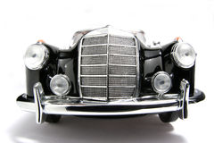 1958 Mercedes Benz 220 SE metal scale toy car fisheye frontview. Picture of a 1958 Mercedes Benz 220 SE. Taken with a fisheye lens as a highkey picture. Very Stock Photos